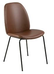 Krzesło carmen brandy pu - brązowy