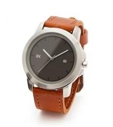 Energetix zegarek magnetyczny 2791-2, pasek ze skóry brązowy