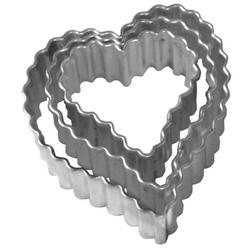 Birkmann - foremki do wykrawania ciastek serca - 3 szt.