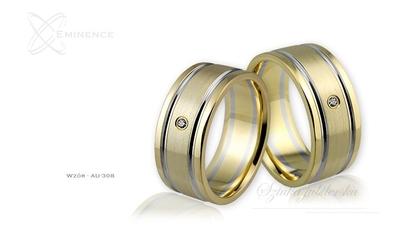 Obrączki ślubne - wzór au-308