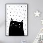 Kitty art - plakat dla dzieci , wymiary - 30cm x 40cm, kolor ramki - biały