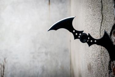 Batman arkham city - batarang - plakat wymiar do wyboru: 50x40 cm