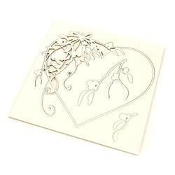 Dekoracyjny scrapek świąteczny serce mistletoe