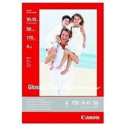 Canon photo paper glossy, foto papier, połysk, biały, 10x15cm, 4x6, 210 gm2, 10 szt., gp-501, atrament