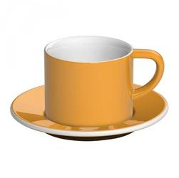 Filiżanka ze spodkiem żółta Bond Cappuccino Loveramics