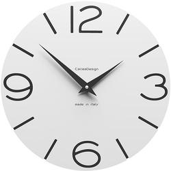 Zegar ścienny Smile CalleaDesign biały 10-005-01