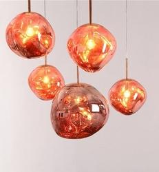 Designerska lampa wisząca ze szklanym kloszem fusion 40