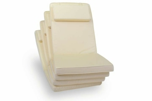 Poduszki kremowe do foteli, krzeseł ogrodwych 4szt