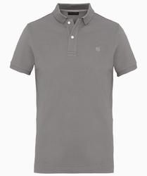 Męska koszulka polo profuomo w kolorze szarym s