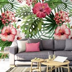 Tapeta na ścianę - cheerful tropics , rodzaj - tapeta flizelinowa