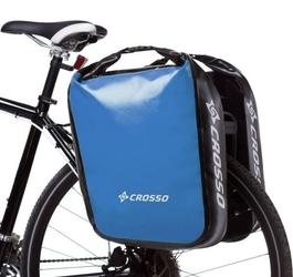 Sakwy rowerowe crosso dry big 60l - adventure jasno niebieska