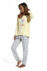 Cornette 625124 time to rest żółty piżama damska