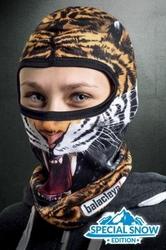 Ocieplana kominiarka termoaktywna 3d na głowę - tygrys snow