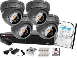 Monitoring ip keeyo zestaw full hd ir40m h265+ 4 x kamera