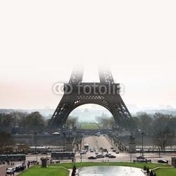 Obraz na płótnie canvas dwuczęściowy dyptyk wieża eiffla