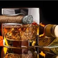 Szklanka na whisky i cygaro