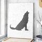 Modny obraz na płótnie - scandi wolf , wymiary - 70cm x 100cm