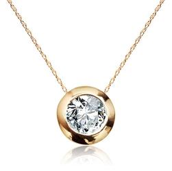 Staviori naszyjnik ze złota 585, kółko z diamentem