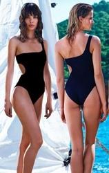Jednoczęściowy strój kąpielowy brazylijski czarny