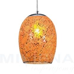 Crackle lampa wisząca pomarańczowy