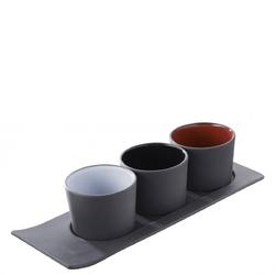 Naczynie porcelanowe na tapas solid  likid revol czarne wnętrze rv-646422-6