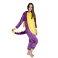 Fioletowy smok kigurumi onesie dres piżama kombinezon