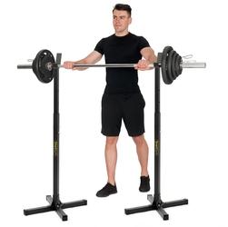 Stojaki pod sztangę regulowane 2 sztuki sg-10 - smartgym fitness accessories