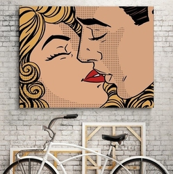 Pop art design - modny obraz na płótnie , wymiary - 60cm x 90cm