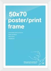 Biała rama 50x70 cm