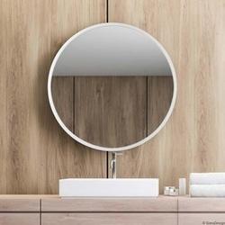 Gieradesign :: lustro skandynawskie scandi okrągłe białe śr. 40