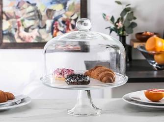 Patera na ciasto i tort z kloszem na nóżce szklana edwanex 30 cm