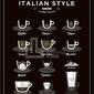 Plakat italian style coffee 30 x 40 cm