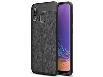 Etui alogy leather armor do samsung galaxy a30 czarne + szkło