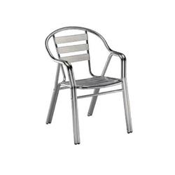 Metalowe krzesło z podłokietnikami edge