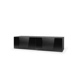 Tres szafka wisząca rtv 160 czarna wysoki połysk