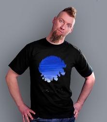 Biwak nocą t-shirt męski czarny xxl