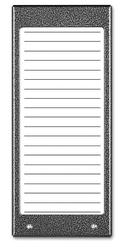 Aco cdn-17n gr podświetlany panel listy lokatorów ok. 17 wpisów - szybka dostawa lub możliwość odbioru w 39 miastach