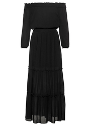 Sukienka z dekoltem quot;carmenquot; bonprix czarny