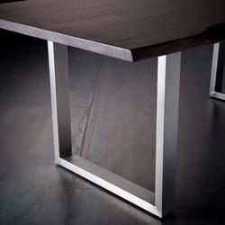 Stół do jadalni z drewnianym blatem catania orzech