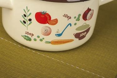 Elopol garnek średni emaliowany zupa 5.5 l kremowy