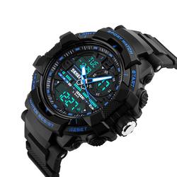 Zegarek męski SKMEI 1164 DUAL TIME LED blue - BLUE