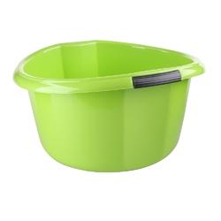 Miska na pranie  łazienkowa z uchwytami plastikowa okrągła solidna bentom seledynowa 30 l