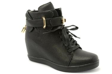 Botki sneakersy elegance 2666-63 czarny