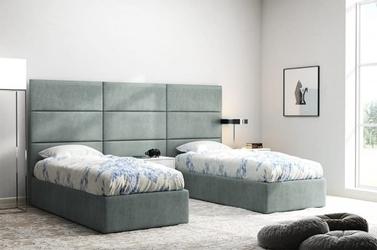 Szare panele ścienne italia 40x30 za łóżko tapicerowane
