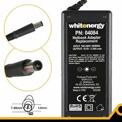 Whitenergy zasilacz 19.5v | 3.34a 65w wtyk 7.45.0mm + pin dell 04084