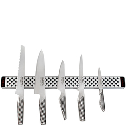 Listwa magnetyczna 51cm i 5 noży kuchennych Global G4251-SET5