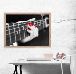 Gra na gitarze - plakat premium wymiar do wyboru: 42x29,7 cm