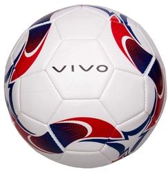 Piłka nożna vivo ground 5 biało-czerwona