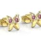 Kolczyki z żółtego złota z różowymi cyrkoniami bpk-88z-r-c
