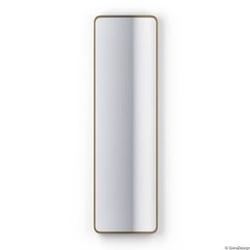 Gieradesign :: lustro ścienne billet złote z zaokrąglonymi rogami 40x90 cm